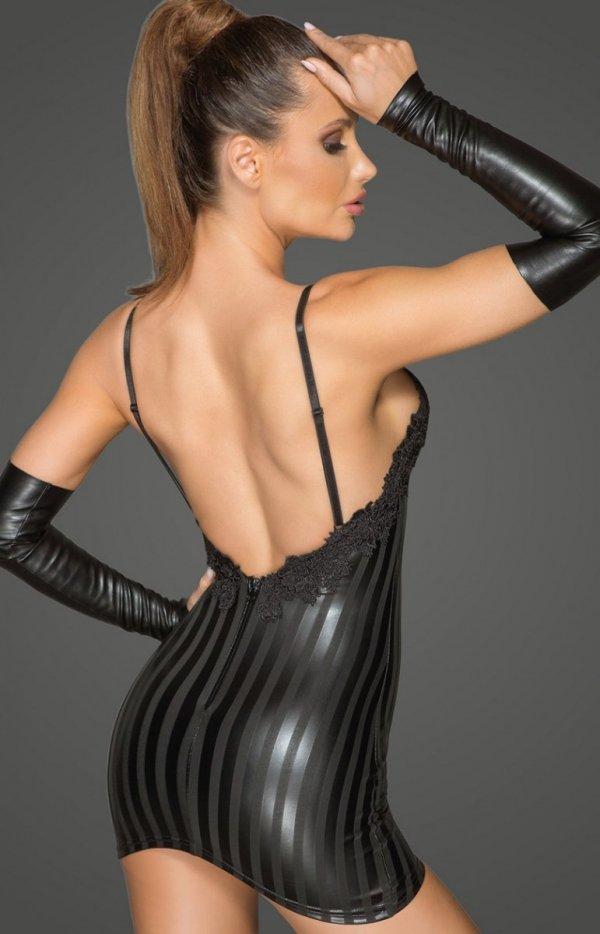Erotyczna mini sukienka F208 tył