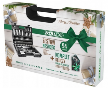 STALCO Oferta świąteczna zestaw nasadek 94 elementy i gratis!!!