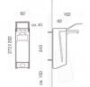 Dozownik (dystrybutor) łokciowy do płynów dezynfekcyjnych i mydła w płynie Faneco (ESA500) 0,5 litra z aluminium
