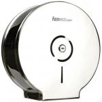 Pojemnik (podajnik) Faneco Duo (J25SGP) na papier toaletowy w rolkach, ścienny, ze stali nierdzewnej, chromowany (lustro)