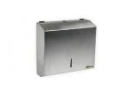 Pojemnik (podajnik) Bisk Masterline (00342) na ręczniki papierowe w listkach ZZ, ścienny, ze stali nierdzewnej