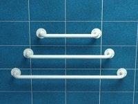 Poręcz prosta z atestem 30 cm fi 25 mm emaliowana biała UP3