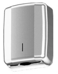Pojemnik (podajnik) Faneco ZZ Geo (LCO0107S) na ręczniki papierowe w listkach, ścienny, ze stali nierdzewnej