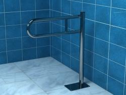 Poręcz dla niepełnosprawnych łukowa uchylna podłogowa 60 cm Makoinstal PSP 760