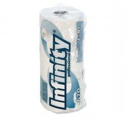 Papier toaletowy INFINITY biały gofrowany 3 rolki