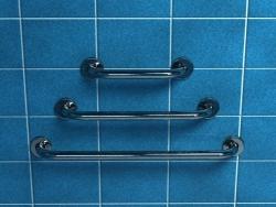 Poręcz dla niepełnosprawnych prosta 30 cm fi 32 mm z atestem PSP 333 chrom/mat