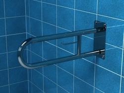 Poręcz dla niepełnosprawnych łukowa uchylna z miejscem na papier 75 cm Makoinstal PSP 675P