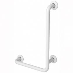 Poręcz kątowa 90° dla niepełnosprawnych Faneco S32UKP6/4 SW B prawa 60x40 cm stal węglowa emaliowana