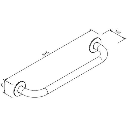 Poręcz prosta dla niepełnosprawnych Faneco S32UP5 SN M 50cm stal nierdzewna