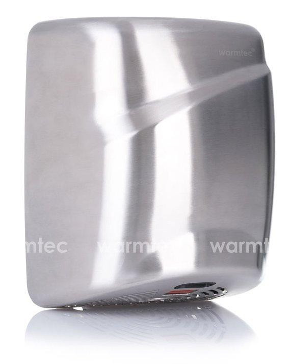Suszarka do rąk Warmtec X-Flow 1800W matowa, automatyczna, srebrna ze stali nierdzewnej