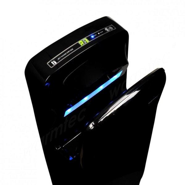 Kieszeniowa suszarka do rąk Warmtec JetFlow 1650W czarny ABS
