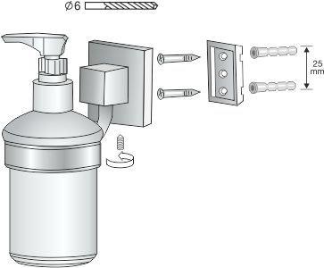 Łazienkowy dozownik mydła Bisk Nord 00585 z uchwytem