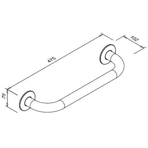 Poręcz prosta dla niepełnosprawnych Faneco S32UP4 SN M 40cm stal nierdzewna