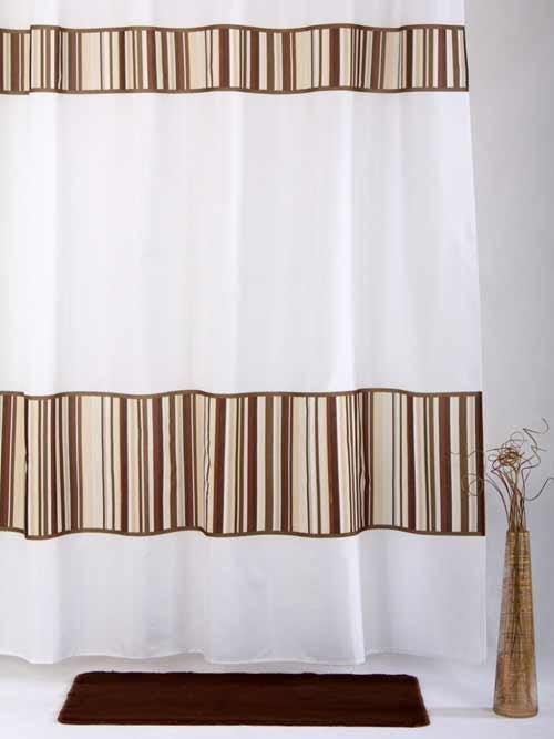 Zasłona prysznicowa tekstylna Bisk BAMBOO 01583