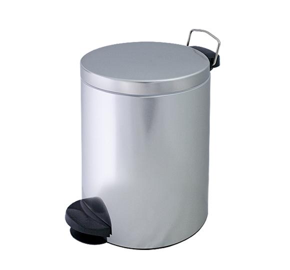 Metalowy kosz na śmieci KP 14-S 14l z pedałem