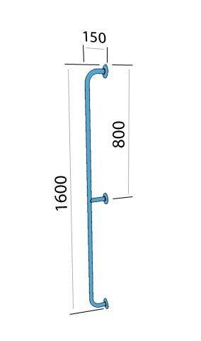 Poręcz prosta z atestem 1600 cm fi 25 mm emaliowana biała