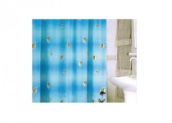 Zasłona prysznicowa tekstylna Bisk VICHY 06600