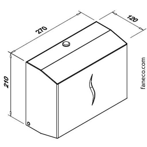 Pojemnik (podajnik) Faneco ZZ Hit (P300SHB) na ręczniki papierowe w listkach, 300 listków