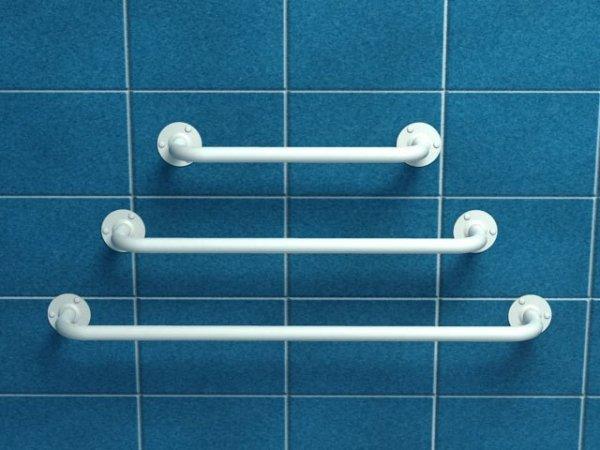 Poręcz prosta z atestem 30 cm fi 25 mm emaliowana biała