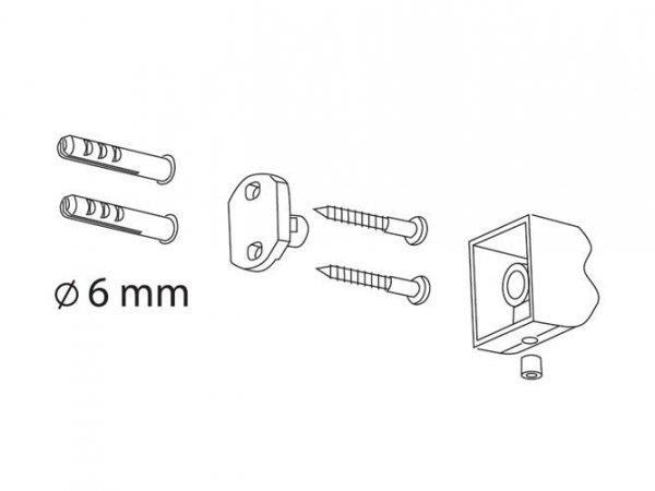 Chromowany uchwyt prosty WC Bisk Futura Silver 02990 metalowy na papier toaletowy w rolce