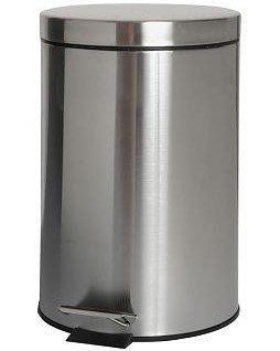 Metalowy kosz na śmieci Bisk Masterline 00125 ze stali nierdzewnej 3l z pedałem