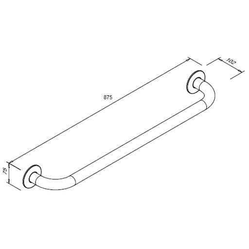 Poręcz prosta dla niepełnosprawnych Faneco S32UP8 SN M 80cm stal nierdzewna