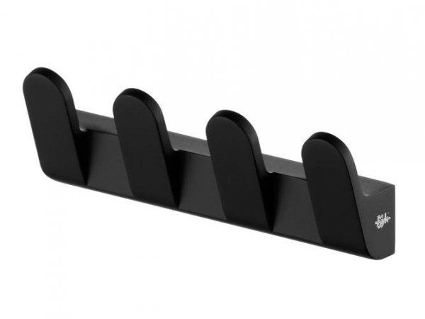 4-hakowy wieszak łazienkowy Bisk Futura Black 02952 metalowy