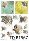 Papier decoupage Wielkanoc, szczęśliwa farma, myszy, myszki*Easter decoupage paper, happy farm, mice, mouse