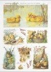 Easter, chickens, little ducks, flowers, spring, eggs, Easter eggs, R302