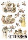 vintage, retro, kobieta, kobiety, sukienka, kwiaty, róża, róże, dekoracje kwiatowe, ornamenty, romantyzm, R366