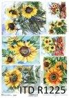 Papier decoupage malarstwo współczesne, słoneczniki*Paper decoupage contemporary painting, sunflowers