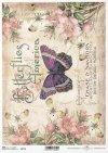 flores de papel decoupage, mariposa*decoupage Papierblumen , Schmetterling