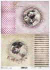 caras de papel de arroz de las niñas, Vintage, fondo*Reispapiergesichter von Mädchen, Weinlese, Hintergrund*рисовая бумага лица девочек, урожай, фон