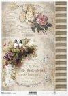 vintage, flowers, background, inscription, birds, R713