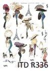moda, Paryż, dawna Francja, vintage, kapelusz, kapelusze, żart, kwiaty, R336