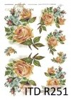 niezapominajki, róże, kwiaty, kwiatki, grafiki w stylu retro, R251