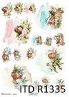papier ryżowy decoupage akwarele - twarze dzzieci*rice paper decoupage watercolors - faces of children