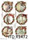 Boże Narodzenie, Mikołaj, zimowe widoczki, zwierzęta*Christmas, Santa, winter views, animals