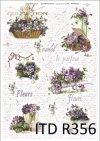 kwiat, kwiaty, fiołek, fiołki, bukiet, bukiety, taczka, taczki, kosz kwiatów, R356