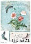papier decoupage kwiaty, Maki*decoupage paper flowers, Poppies