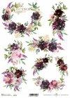 Kwiaty, kwiatki, bukiety, Peonie, Piwonie, Szałwia, Lawenda, Hortensja