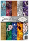 Papiery do scrapbookingu w zestawach - Kamienie szlachetne*Set of scrapbooking papers - Gemstones