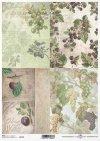 Decoupage de papel de frutas, uvas, grosellas, ciruelas, moras*Бумажные декупаж фрукты, виноград, крыжовник, сливы, ежевика*Papier decoupage Früchte, Trauben, Stachelbeeren, Pflaumen, Brombeeren