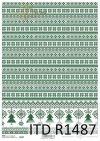 papier decoupage świąteczny, dekory, choinki*decoupage paper, decors, Christmas trees