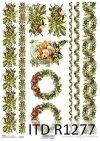 Papier decoupage Vintage*świąteczne szlaczki*długie koronki