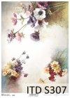 papier decoupage kwiaty polne*paper decoupage wildflowers
