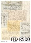 stary list, listy, papeteria, ręczne pismo w kolorze sepii, R500