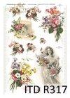 wiosna, kwiat, kwiaty, polne kwiaty,  kobieta, ornamenty, ornamenty roślinne