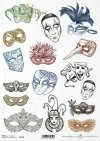 Karnawałowe maski, Pierrot, maska wenecka, karnawał*Carnival masks, Pierrot, Venetian mask, carnival