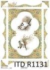 papier decoupage ptaki, złota ramka, dekory*Paper decoupage birds, gold frame, decors